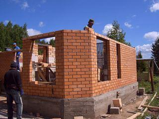 Фото строительства кирпичных бань