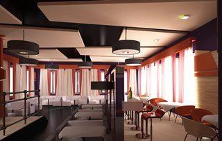 Дизайн интерьера кафе в Перми