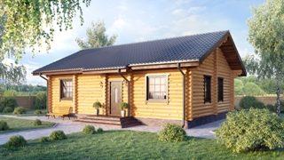 Проекты одноэтажных домов из бревна в Перми
