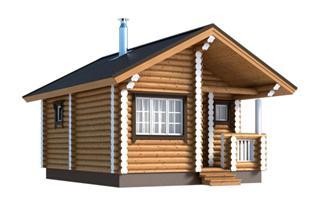 Проекты двухэтажных домов из бревна в Перми