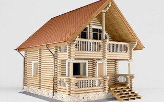 Проекты домов 5х5 из оцилиндрованного бревна в Перми