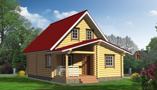 Проекты домов 5х6 из оцилиндрованного бревна в Перми