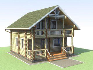 Проекты домов 6х6 из оцилиндрованного бревна в Перми