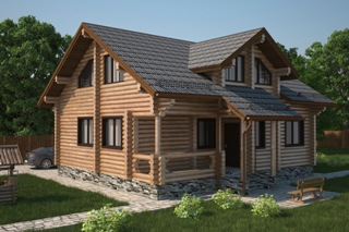 Проекты домов 6х7 из оцилиндрованного бревна в Перми