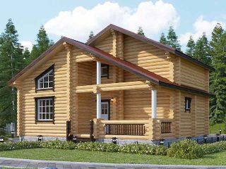Проекты домов 6х9 из оцилиндрованного бревна в Перми