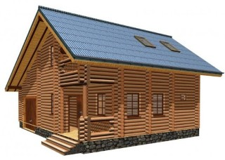 Проекты домов 7х8 из оцилиндрованного бревна в Перми