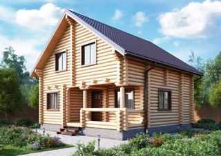 Проекты домов 7х9 из оцилиндрованного бревна в Перми