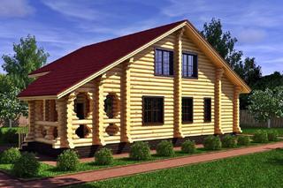 Проекты домов 8х8 из оцилиндрованного бревна в Перми