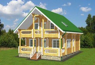 Проекты домов 8х9 из оцилиндрованного бревна в Перми
