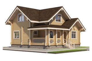 Проекты домов 8х10 из оцилиндрованного бревна в Перми