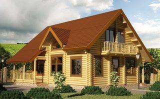 Проекты домов 9х9 из оцилиндрованного бревна в Перми