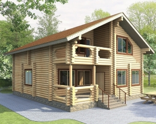 Проекты домов 9х10 из оцилиндрованного бревна в Перми