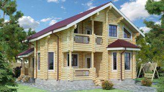 Проекты домов 9х12 из оцилиндрованного бревна в Перми