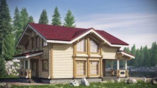 Проекты домов 10х10 из оцилиндрованного бревна в Перми