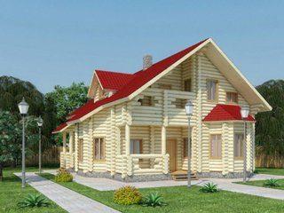 Проекты домов 11х11 из оцилиндрованного бревна в Перми