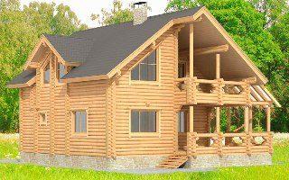 Проекты домов 12х12 из оцилиндрованного бревна в Перми