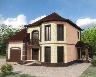 Проекты двухэтажных домов из кирпича в Перми