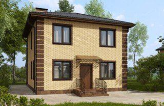 Проекты домов из кирпича 7х7 в Перми