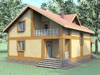 Проекты домов из кирпича 7х8 в Перми