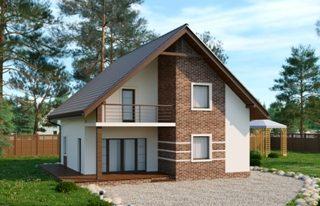 Проекты домов из кирпича 8х9 в Перми