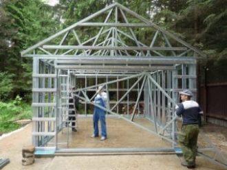 Строительство каркасного гаража в Перми