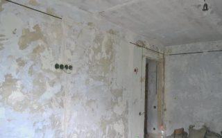 Фото процесса Штробление стен в Перми