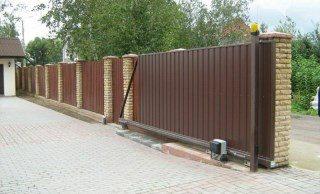 Откатные ворота под ключ в Перми