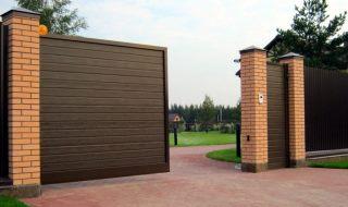 Фото процесса производства Откатные ворота из профнастила в Перми