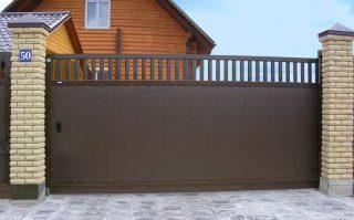 Фото процесса производства Металлические откатные ворота в Перми