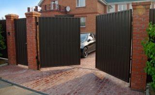 Распашные ворота для дачи в Перми