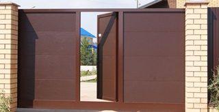 Откатные ворота с калиткой в Перми