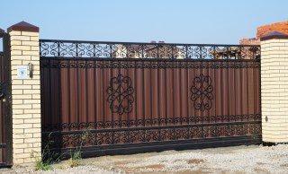 Кованые ворота откатные в Перми