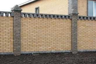 Кирпичный забор под ключ в Перми