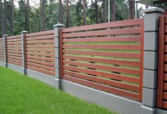 Деревянный забор под ключ в Перми
